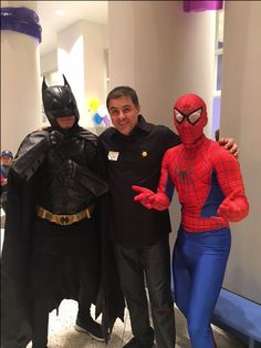Bat-Man Martin Ayanegui and Spider man  Sunshine Kids Event