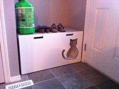 Kitty Litter box - Stuva Storage Bench #cat #bathroom #hidden