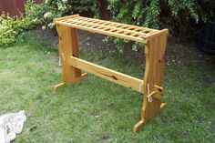 Weapons rack - Peg together weapons rack suitable for axes, swords, javelins…