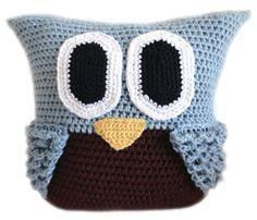 Owl Pillow  PDF Crochet Pattern  Instant by CrochetSpotPatterns