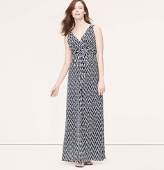 LOFT Petite Maternity Ikat Print V-Neck Maxi Dress | Have a feeling I will be living in maxi dresses this summer