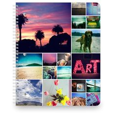 Collage Squares Large Notebook | Spiral Notebooks | www.Shutterfly.com