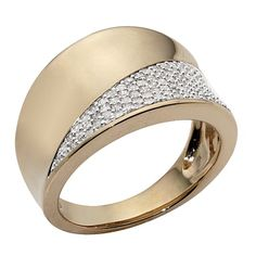 1/2 carat of Diamonds 9ct Gold Diamond Concave Ring Ring Size N - Diamond - Rings - Jewellery - The Warehouse