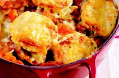 Rachel Allen's chicken casserole with cheesy herb dumplings recipe - goodtoknow