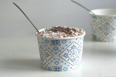 Organic Gardening by Eet Goed Voel je Goed Raw Food Recipes, Sweet Recipes, Dessert Recipes, Healthy Recipes, Diy Ice Cream, Homemade Ice Cream, Cookie Desserts, No Bake Desserts, Frozen Yoghurt