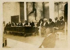 Speakers at the Pan-African Congress held in Brussels, Belgium, in ...