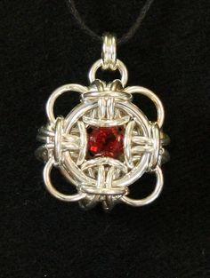 Garnet Ming Medallion by J Brewer, WhimsicalWeavesCJ