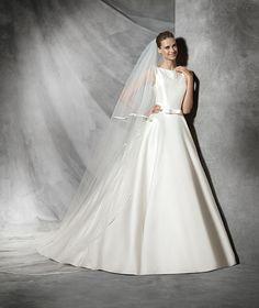 Tresol, abito da sposa semplice in mikado