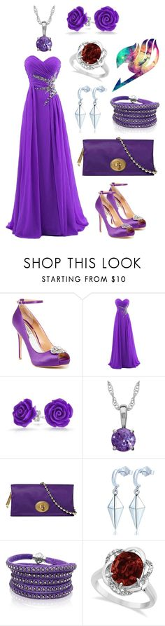 """""""Erza Scarlet"""" by even-miracles-take-a-little-time ❤ liked on Polyvore featuring Badgley Mischka, Bling Jewelry, Coach, Sif Jakobs Jewellery, Allurez, purple, FairyTail, erzascarlet and jerza"""