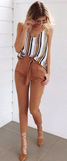 2018 Business Outfit Damen Kleidung Büromode Fashion business of fashion Outfit Chic, Chic Outfits, Fashion Outfits, Fashion Ideas, Fashion Trends, Outfit Work, Workwear Fashion, Fashion Pants, Fashion Clothes