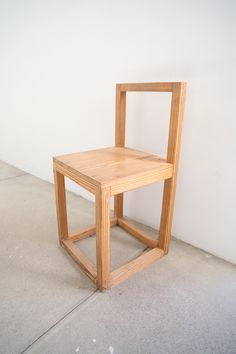Donald Judd, simple chair