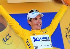Daryl Impey takes the yellow jersey in stage 6 of the 2013 Tour de France. He is the first South African to wear the yellow jersey. Grand Tour, Bmx, Cycling, Bicycle, Simon Gerrans, Tours, Sport, African, Yellow