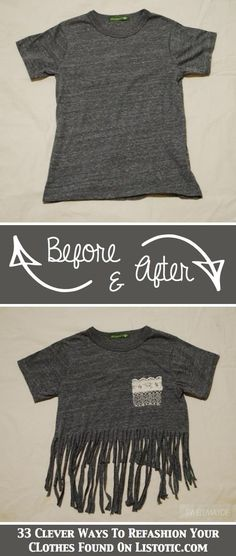 Comfy Casual DIY Tee with added fake Lace pocket.