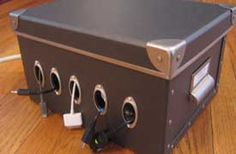 Cool cord organizer/charging box to make for the cell phones, DS games, cameras, and other electronics in my life.