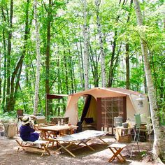 Camping Style, Tent Camping, Bell Tent, Outdoor Furniture, Outdoor Decor, Coffee Shop, Picnic, Fishing, Rooms