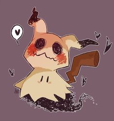 He's shaped like a friend Pokemon (c) Nintendo Mimikkyu Aloha Pokemon, I Play Pokemon Go, Ghost Type Pokemon, Pokemon Fan Art, Cute Pokemon, Pokemon Images, Pokemon Pictures, Pokemon Photo, Rpg Horror Games