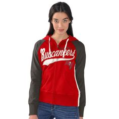 Tampa Bay Buccaneers G-III 4Her by Carl Banks Women's All World Pro Full Zip Hoodie - Red - $41.99