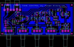 Sharing PCB Power Amplifier, Tone Control Speaker Protector, etc. You can see all about PCB Design of all around the world here: Valve Amplifier, Audio Amplifier, Diy Guitar Pedal, Circuit Board Design, Electronic Circuit Projects, Speaker Box Design, Electronic Schematics, Solar Power System, Circuit Diagram