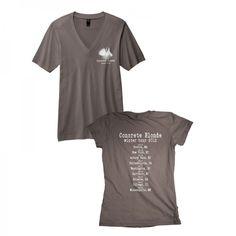 Concrete Blonde Winter 2012 tour shirt Vintage Rock T Shirts, V Neck T Shirt, Shirt Dress, Concrete, Lyrics, Tours, Random, Winter, Christmas