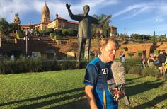 Comedian Eddie Izzard has finished his challenge in South Africa, having run a total of 27 marathons in 27 days to raise money for SportRelief and pay tribute to Nelson Mandela.    Running a total of 700 miles in temperatures of up to 42C, the 54-year-old has raised a total of more than £1.35 million for the charity appeal.