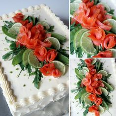 """#lohivoileipäkakku Sallin ristiäisiin / / / #salmon #sandwichcake to Salli's Christening #leivojakoristele #leivonta #instayum #instabake #ibakedit…"" Savoury Baking, Savoury Cake, Sushi Love, Sandwich Cake, Charcuterie, Cooking Classes, Food Art, Buffet, Food And Drink"