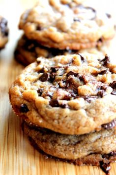 Peanut Butter Chocolate Chip Cookies with Sea Salt [via ambitious kitchen]