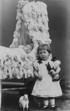 Princess Alice of Albany and Charles Edward, Duke of Albany, 1884 [in Portraits of Royal Children Vol.33 1884-1885] | Royal Collection Trust
