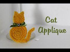 38 Ideas For Crochet Cat Applique Crochet Applique Patterns Free, Cat Applique, Crochet Headband Pattern, Crochet Flower Patterns, Crochet Flowers, Crochet Animals, Crochet Toys, Crochet Baby, Crochet Fish