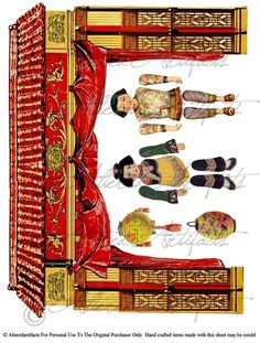 Asian Theater Puppet Digital Collage Sheet  Articulated  Paper Doll Paperdoll. $3.50, via Etsy.