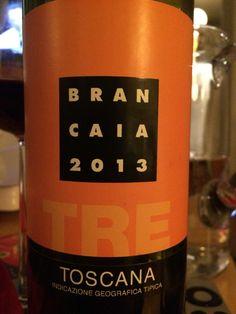Brancaia TRE 2013 Chianti som kräver en stunds luftning. Borde lira grymt med rosmarin.
