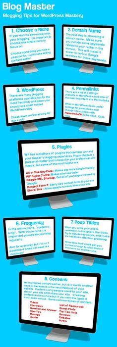 Blogging tips for WordPress mastery. #blog #tips