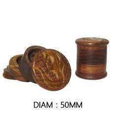 Grinder Arka en bois avec logo Om