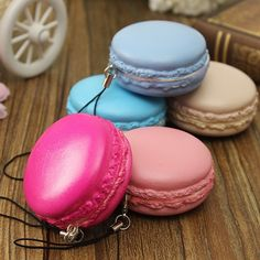 wholesale Kawaii Soft Dessert Squishy Cute Bread Cell Phone Key Straps Candy Colors Macarons Squishy Bread Straps|631037bb-a890-4239-a78e-812d42232110|Mobile Phone Straps
