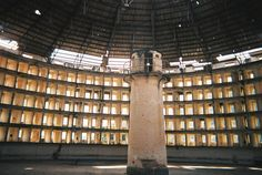 In Cuba saw the construction of the Presidio Modelo, a prison based on the Panopticon building design. The idea was that a guard could stand in the central tower and watch all of the prisoners in the surrounding cells. Jeremy Bentham, Illuminati, Data Mining, Political Prisoners, Political Economy, Open Layout, Archipelago, Open Plan, Abandoned Places