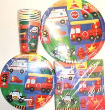 Rescue/Emergency Vehicles Party Supplies ~FREE SHIPPING