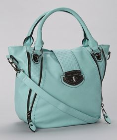 Look what I found on #zulily! Seafoam Quilted Vegan Leather Tote by Adhesion, LLC #zulilyfinds