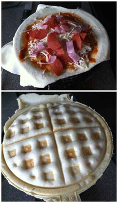 17 recipes for the waffle iron... Cheeseburgers, hot dogs, pizza, cookies, ect.