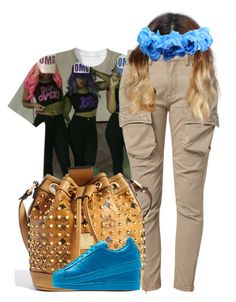 """""""Supercolor."""" by prvncessbeautifulmee ❤ liked on Polyvore featuring Relish and MCM"""