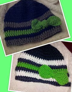 Seattle seahawks beanie by Loriashleysquilts on Etsy d40def890