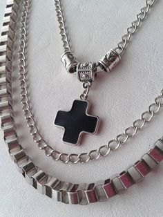 Collar Cruz _Triple cadenas - LlevameConVos♥