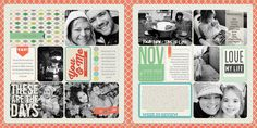 Digital pages by Heather Johnson, featuring the Coral Edition.