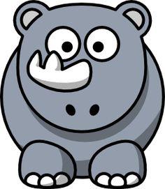 Studiofibonacci Cartoon Rhino clip art - vector clip art online, royalty free & public domain
