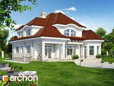 Projekt domu Rezydencja w Myślenicach 2 - ARCHON+ Bungalow Homes, Bungalow House Plans, Beautiful House Plans, Beautiful Homes, Modern Entrance, Country Kitchen Designs, Bungalow House Design, House Front, Home Fashion