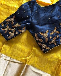 Simple Blouse Designs, Designer Blouse Patterns, Fancy Blouse Designs, Bridal Blouse Designs, Blouse Neck Designs, Kerala Saree Blouse Designs, Maggam Work Designs, Blouse Models, Zardosi Embroidery