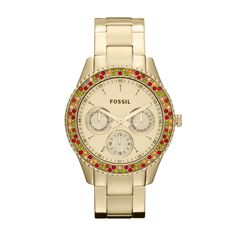 FOSSIL® Watch Styles Gold-Tone Watches:Women Stella Stainless Steel Watch – Gold-Tone ES3201