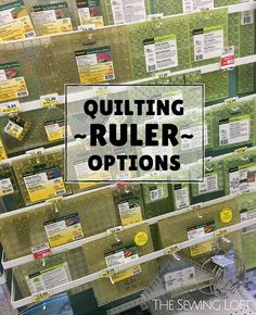 Quilting Rulers Options on the Market - Trading Stocks - Ideas of Trading Stocks - Do you ever get overwhelmed by all the quilting rulers on the market? This article breaks down all the must haves and why. The Sewing Loft Quilting Rulers, Quilting Tools, Machine Quilting, Quilting Projects, Quilting Ideas, Diy Quilting, Sewing Projects, Quilting Board, Patchwork Quilting