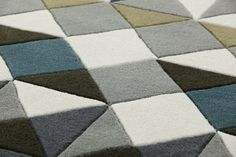 Handmade wool rug with geometric shapes MOSAÏEK - GAN By Gandia Blasco