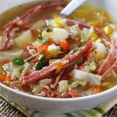 Corned Beef and Cabbage Soup by Skinny Taste - PERFECT for St. Patrick's Day!