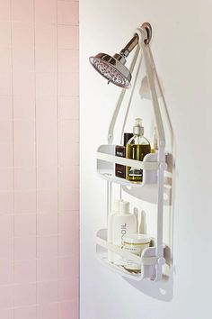 Shop Preston Flex Shower Caddy at Urban Outfitters today. We carry all the latest styles, colors and brands for you to choose from right here. Bathroom Organization, Bathroom Storage, Small Bathroom, Beach Bathrooms, Modern Bathrooms, Bathroom Wall, Organization Hacks, Storage Cart, Extra Storage