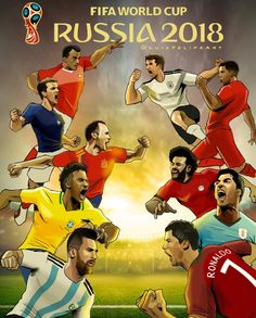 FIFA WorldCup 2018, Let the battle begin Fifa, World Cup, Battle, Spanish, Cartoons, Comic Books, Football, Let It Be, Comics